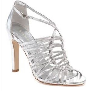 BCBG BCBGeneration Silver Strappy Sandals Size 5.5